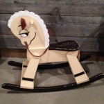 Brown and Cream Rocking Horse