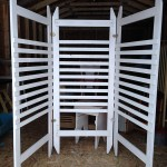 Three Sided White Slat  Blackdrop