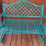 Turquoise Rocking Bench