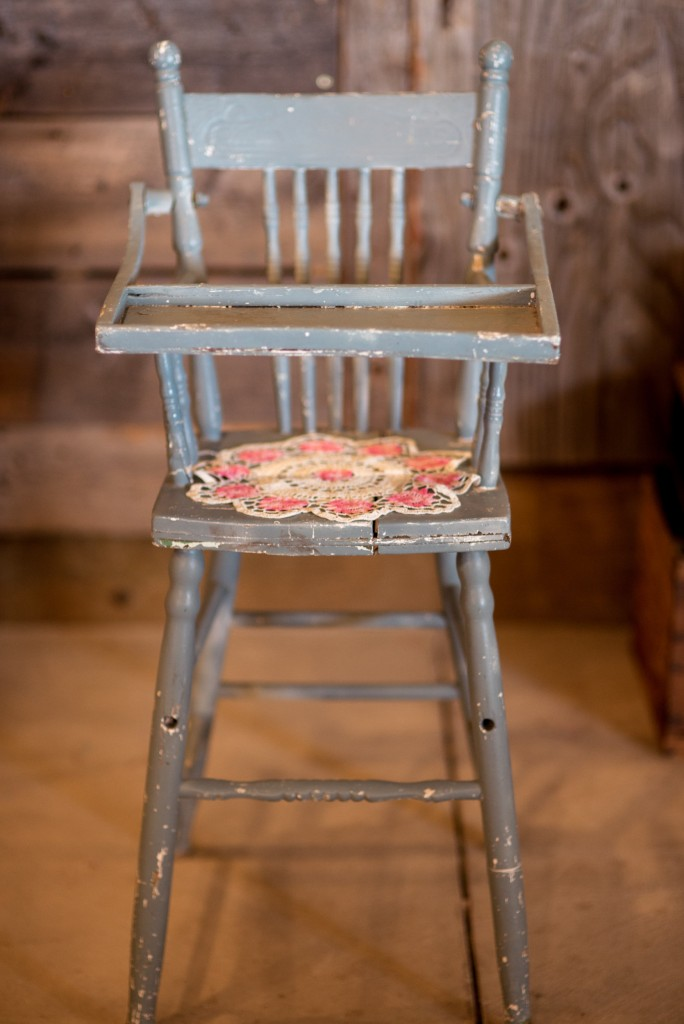 Blue Chippy High Chair