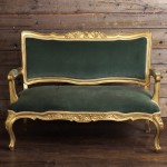 Green and Gold Settee