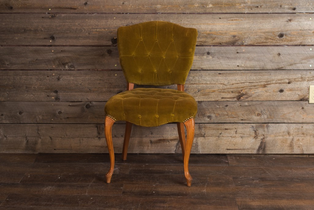 Green Velvet Tufted Chair