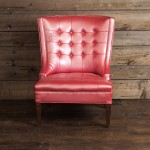 Pink Tufted Vinyl Chair