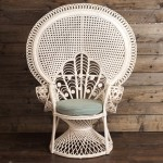 White Wicker Peacock Chair