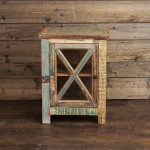 Rugged Barn Board End Table