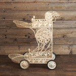 Ivory Vines Tea Cart