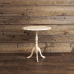 Small Ivory Folding Table