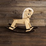 Cream and Brown Rocking Horse