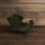 Green Wooden Christmas Sleigh