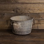 Small Round Tin Tub