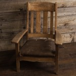 Rustic Leather Seat Chair