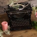 Black Victorian Typewriter