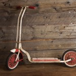 Red and White Scooter