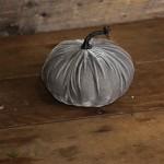 Gray Velvet Pumpkin